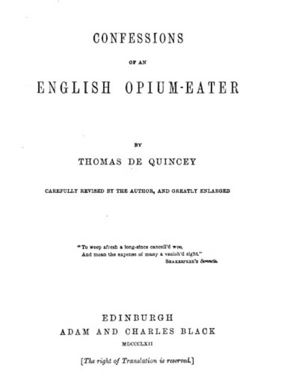 Bekentenissen van een Engelse opiumslikker   Thomas de Quincey